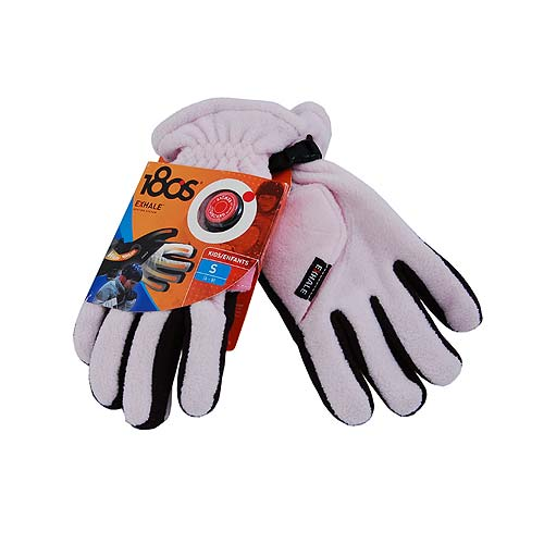 180s Exhale Pink / Black Fleece Heating Snowboarding Ski Gloves, Kids Large 10-12 - 180s Gloves Fashion