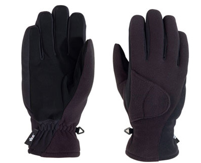 180s Exhale Winter Black Fleece Suede Ski Snowboarding Gloves Mens XL