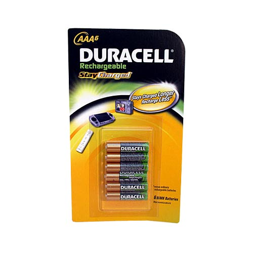 Duracell AAA 6-Pack Pre-Charged Rechargeable Stay Charged 800mAh AAA Batteries - Batteries Electronics