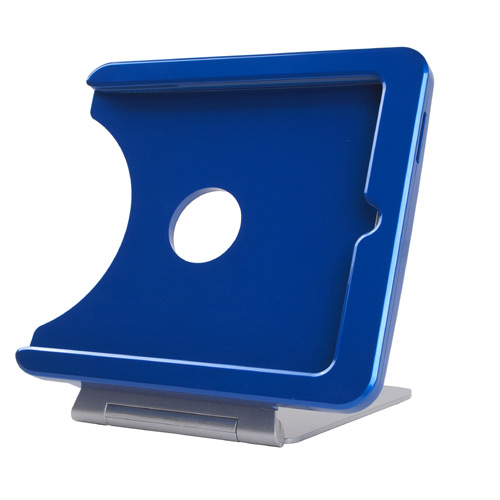 INFOtainment iPad Tablet Charging Foldable Stand Blue (Fits Generations 1 2 3) - iPod and Cell Phone Accessories Electronics