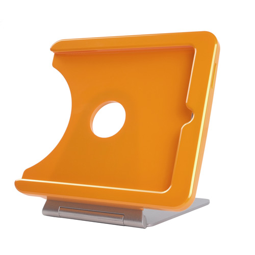INFOtainment iPad Tablet Foldable Charging Dock Stand Orange (Fits Gens 1 2 3) - iPod and Cell Phone Accessories Electronics