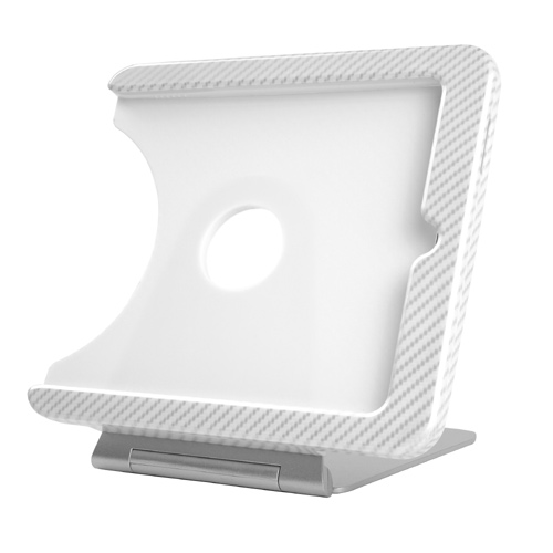 INFOtainment iPad Tablet Foldable Charging Dock Stand White (Fits Gens 1 2 3) - iPod and Cell Phone Accessories Electronics