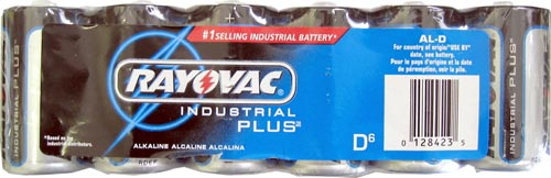 24 Rayovac Industrial Plus D Batteries (4) 6-Packs Exp 2012