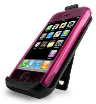 speck see-thru iphone case & holster pink iph-pnk-see, fits 1st gen only