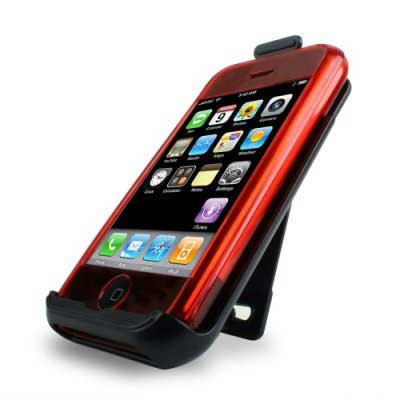 speck see-thru iphone case & holster red iph-red-see, fits 1st gen only