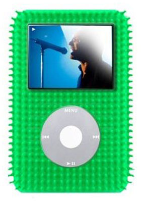 gifts and gadgets store - Speck FunSkin Grass iPod Skin Case IV-GREEN-GR, Fits 30/60 Gig 5G Video (5th Gen) - iPod and Cell Phone Accessories - Electronics