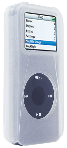 speck skintight ipod skin case & screen protector sk-clear-nn, fits 2/4 gig nano (1st gen)