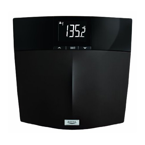 Borg BDM950KD-45 Digital Weight Tracking and BMI Scale Black - Scales Personal Care