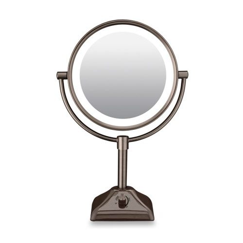 be104brd lighted 10x 1x magnification oil rubbed bronze makeup mirror. Black Bedroom Furniture Sets. Home Design Ideas