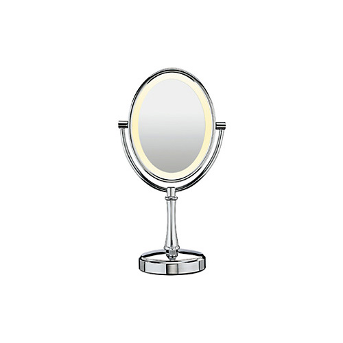 Lighted Vanity Mirror Conair : Conair BE117 1X/10X Chrome Lighted Vanity Makeup Mirror eBay
