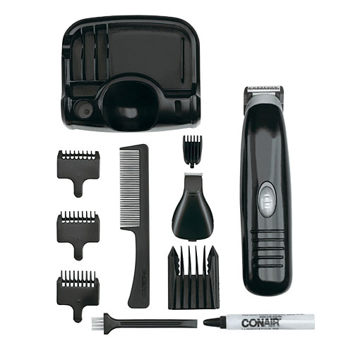 conair gmt170 men 39 s battery operated beard and mustache trimmer ebay. Black Bedroom Furniture Sets. Home Design Ideas