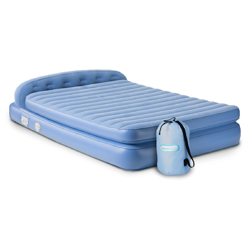 Aerobed 19813 Comfort Hi Rise Premium Queen Inflatable Mattress w Headboard
