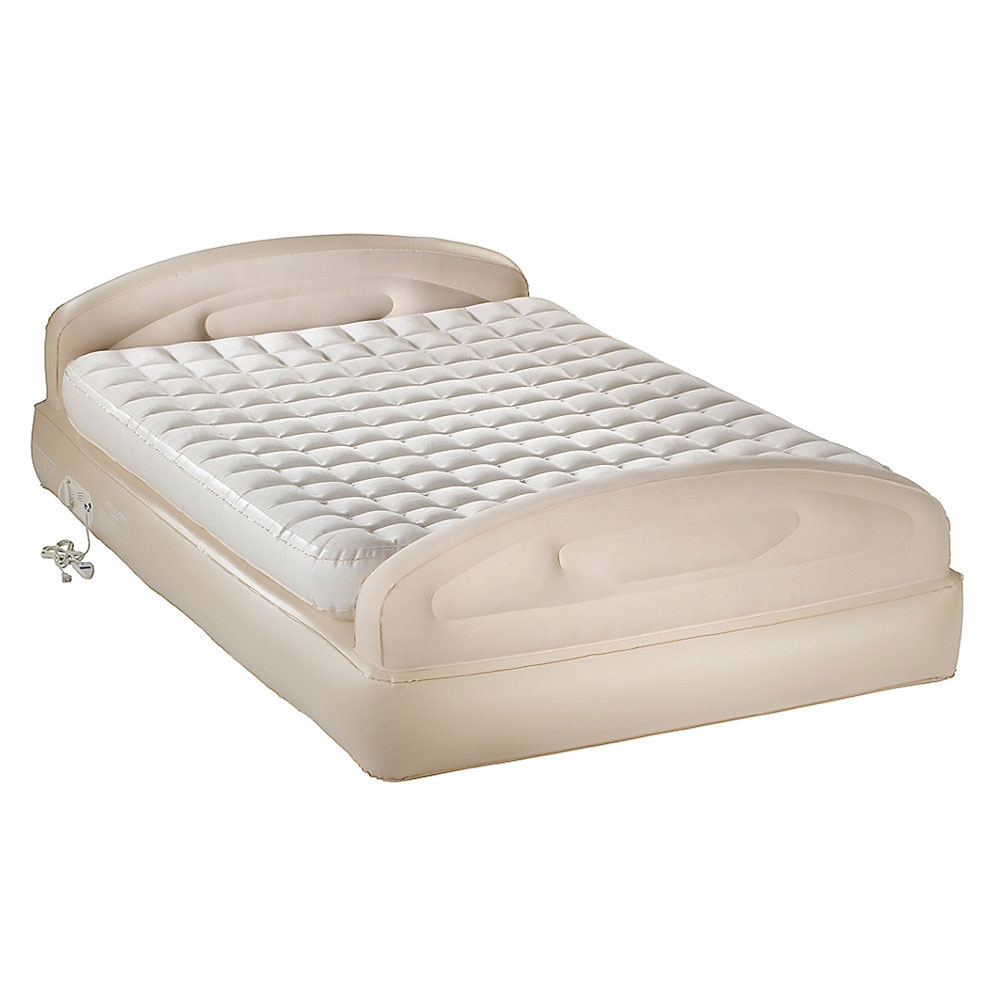 Aerobed 2000011888 double high airbed sleighbed with built for Double bed mattress