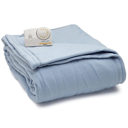 Knitting Queen Size Blanket : Biddeford comfort knit fleece electric heated blankets