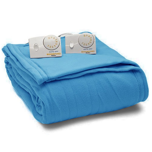 Biddeford Electric Heated Warming Blanket King Size  Deep Blue
