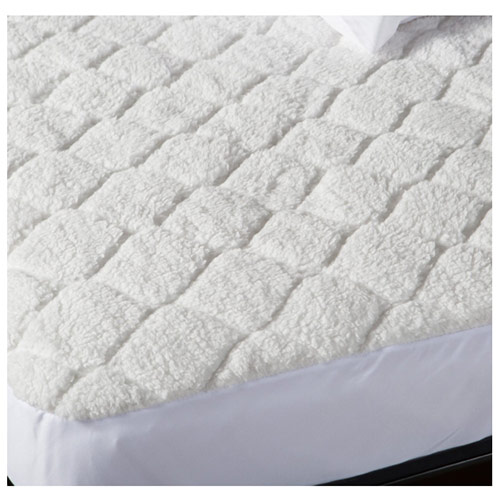 Biddeford Quilted Sherpa Electric Heated Mattress Pad Twin