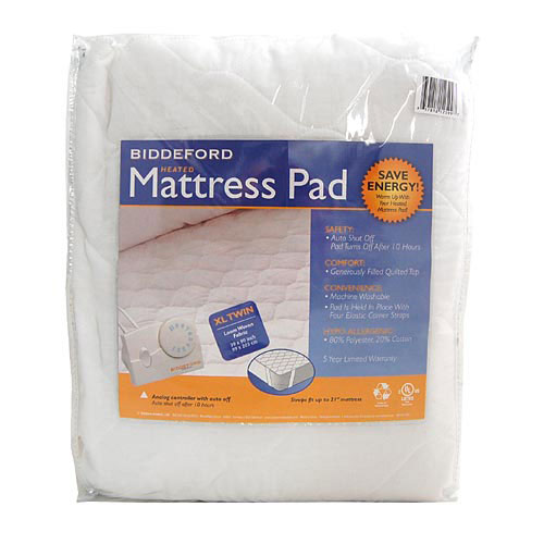 biddeford twin xl quilted electric heated mattress pad ebay. Black Bedroom Furniture Sets. Home Design Ideas