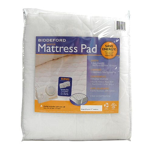 Biddeford King Quilted Electric Heated Mattress Pad