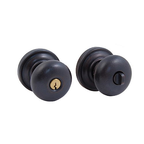 Baldwin 5205.402.ENTR Classic Knob Keyed Entrance Door Lock Distressed Oil Rubbed Bronze