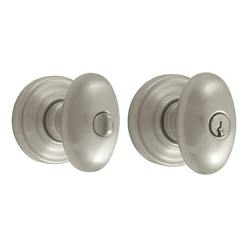 Baldwin 5225.150.ENTR Egg Knob Keyed Entrance Door Lock Satin Nickel - Entrance Door Locks Home and Garden
