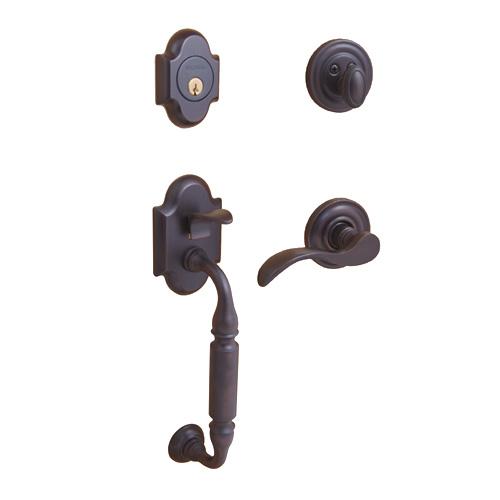 Baldwin 5305.112.LHRH Canterbury Entrance Door Lock Handleset Venetian Bronze - Entrance Door Locks Home and Garden