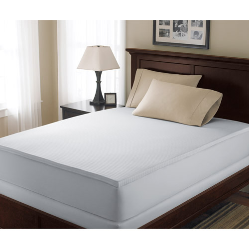 Canopy 1 5 39 39 hypoallergenic memory foam white mattress topper twin size ebay Memory foam mattress topper twin