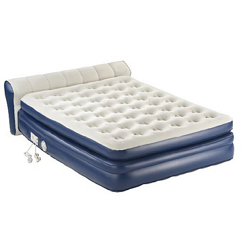 """Aerobed 2000011983 18"""" Elevated Queen Airbed Inflatable Mattress w Built in Pump"""