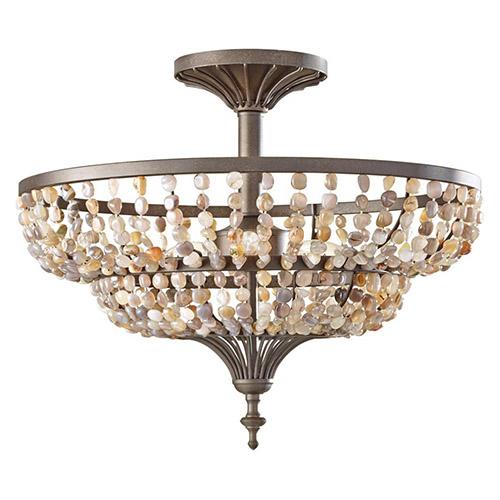 sf311ri maarid 3 light semi flush ceiling lighting rustic iron ebay. Black Bedroom Furniture Sets. Home Design Ideas