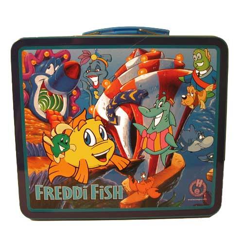 Rare Freddi Fish 70s Style Metal Lunchbox Lunch Box New Ebay
