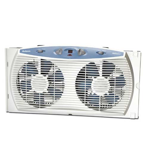 Holmes HAWF3095-U 3 Speed Window Fan w/ Accutemp Plus Digital Thermostat at Sears.com