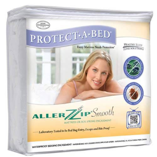 Protect-A-Bed Allerzip Smooth Allergy Bug Mattress Encasement Protector King 9