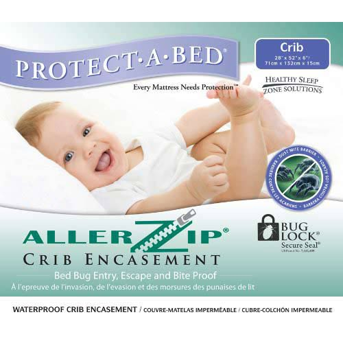 Protect-A-Bed Allerzip Bed Bug / Allergy Proof Terry Mattress Encasement Crib 6