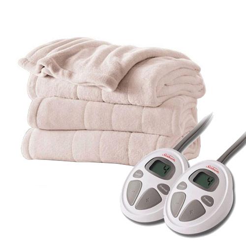 sunbeam channeled velvet plush electric heated blanket. Black Bedroom Furniture Sets. Home Design Ideas