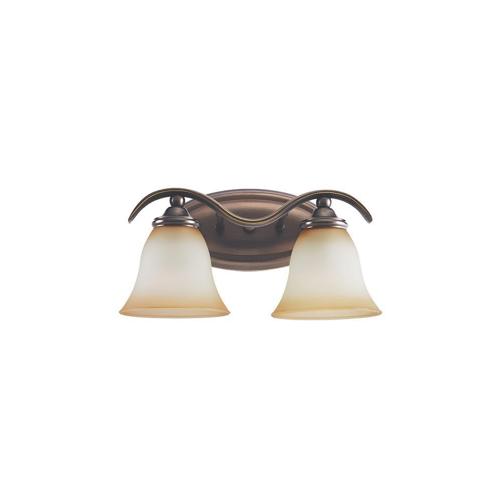 Sea Gull Lighting 44360-829 Rialto 2-Light Vanity Russet Bronze Finish eBay