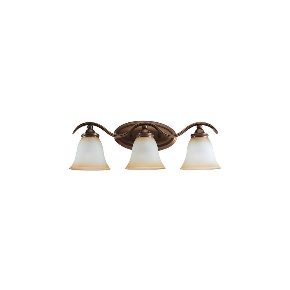 Sea Gull Lighting 44361-829 Rialto 3-Light Vanity Russet Bronze Finish eBay