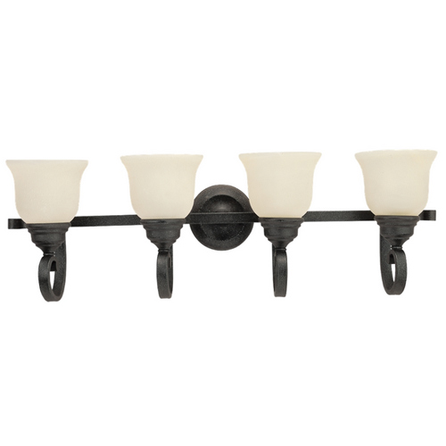 Sea Gull Lighting 49061BLE-07 Serenity 4-Light Bath & Vanity Light, Weathered Iron Finish