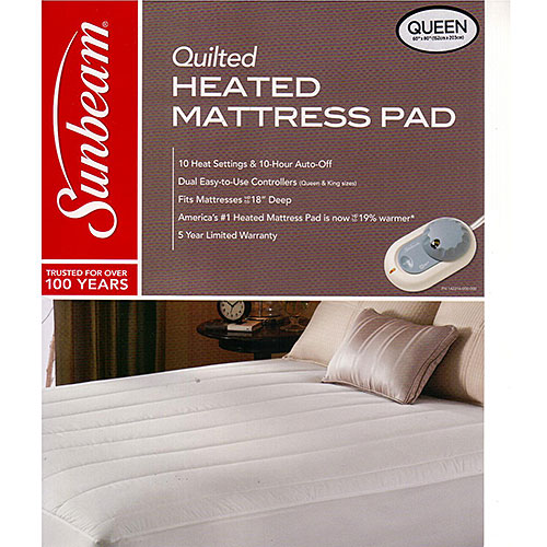 Sunbeam Thermofine Quilted Striped Heated Electric