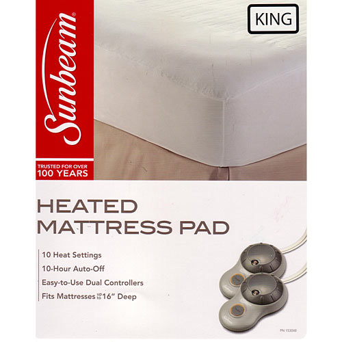 Sunbeam Non Woven Thermofine Heated Electric Mattress Pad