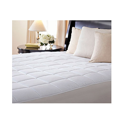 Sunbeam Premium Quilted Heated Electric Mattress Pad Box Pattern Twin Size