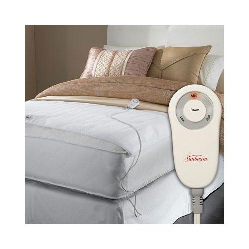 Sunbeam Comfy Toes Heated Foot Warming Mattress Pad Twin