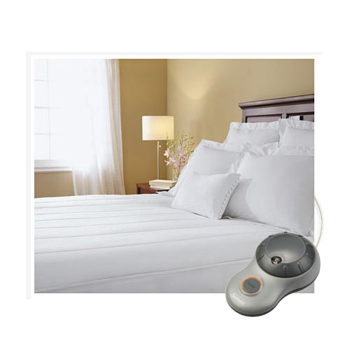 Sunbeam Quilted Striped Heated Electric Mattress Pad Twin Full Queen King C-King at Sears.com