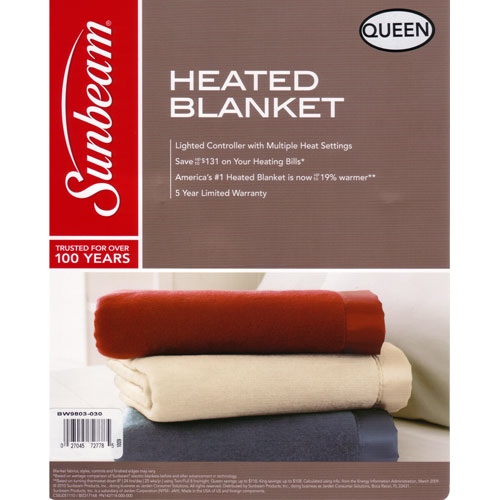 Sunbeam Queen Heated Electric Blanket Imperial Nights  Linen at Sears.com