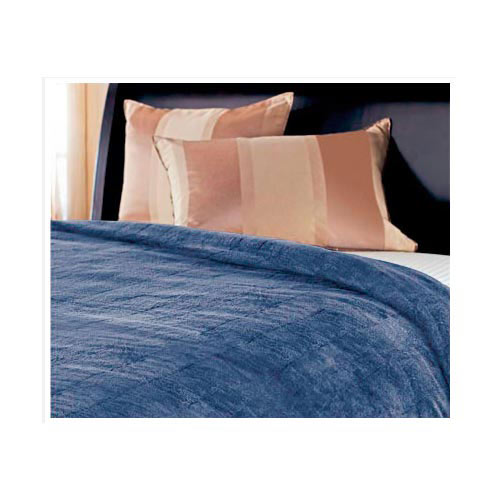 Sunbeam Microplush Electric Heated Warming Blanket, Full Size Azure Blue