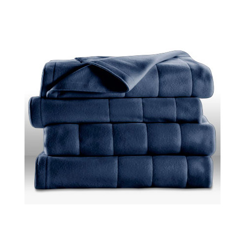 Sunbeam Royal Dreams Twin Quilted Fleece Electric Blanket Newport Blue