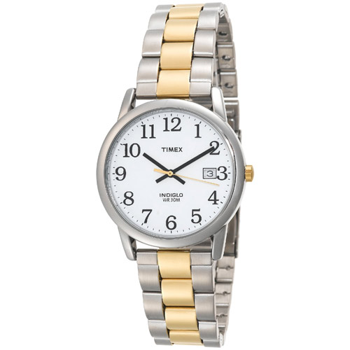 Timex T2N170 Men's 2 Tone Date Indiglo EZ Reader Stainless Steel Bracelet Watch at Sears.com