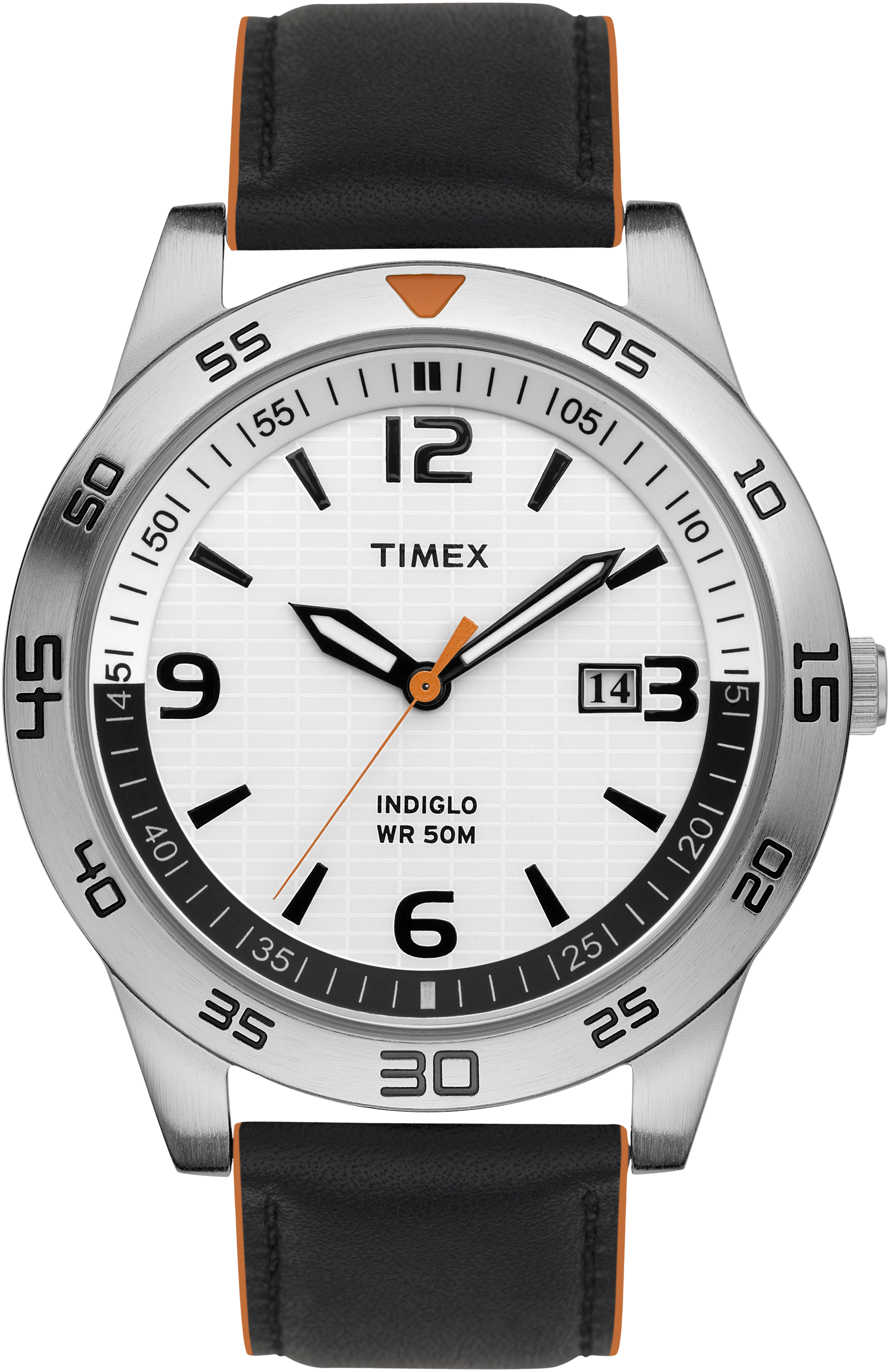 Timex T2N695 Men's Elevated Classics Dress Sport White Indiglo Face Watch at Sears.com