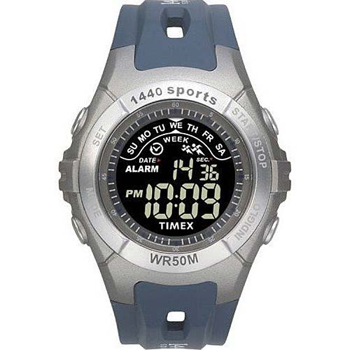 timex t5g911 indiglo quartz digital stainless steel mens