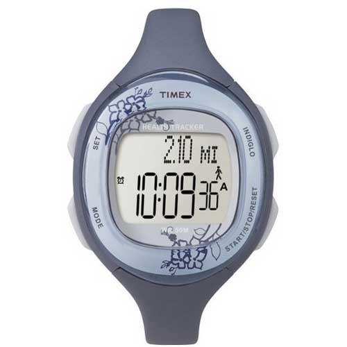 Timex T5k484 Ironman Health Tracker Digital Sports Watch Blue Rubber