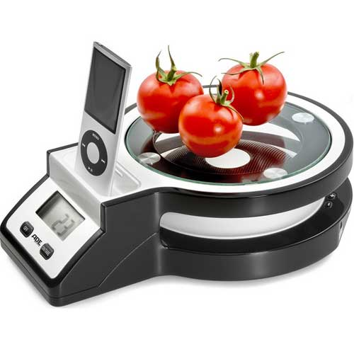 Frieling ADE Joy Electronic Kitchen Scale with iPod Station KE999 - Specialty Accessories Kitchen Appliances