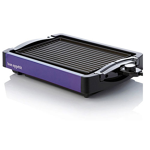 Bon Appetit BARGG010BLU Reversible Grill / Griddle in Purple Finish